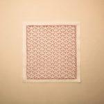 一目刺しの毘沙門亀甲図案の刺し子ふきんの作り方