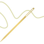 吉田晒の細幅で刺し子をする時には、チューリップの針がオススメです。