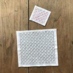 八角形の水玉図案の刺し子柄のやり方。【かわいい一目刺し柄】
