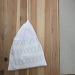 1枚布の晒で作る刺し子巾着の作り方